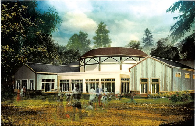 Rendering of Highland Center for the Arts - COURTESY OF VALDINE HALL