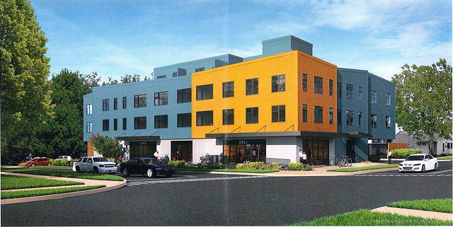 The proposed building - COURTESY OF REDSTONE