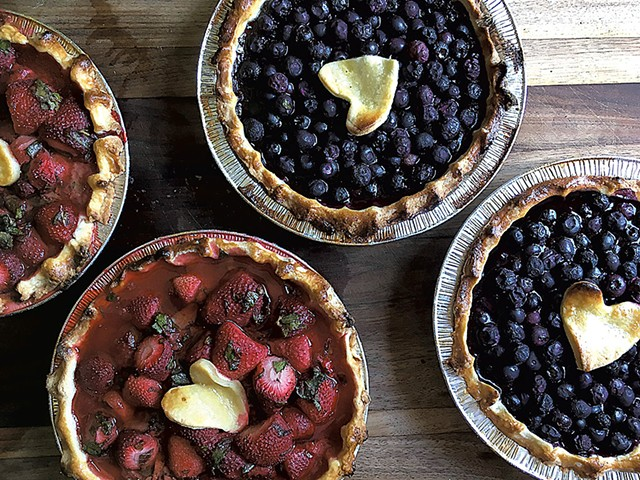 Pies at Pebble Brook Farm - COURTESY OF PEBBLE BROOK FARM