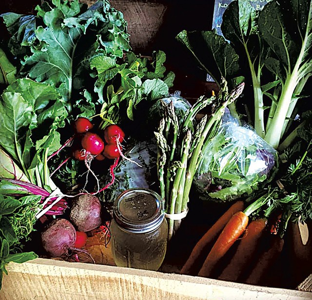 Produce at Golden Well Farm & Apiaries - COURTESY OF GOLDEN WELL FARM & APIARIES