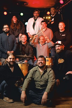 Top row, from left: Erin Laub, Chris Walsh and Jamael Regular; second row: Sean Riehl and Jason Gelrud; third row: Brian Mital, Noel Donnellan and Nectar Rorris; and on the floor: Ryan Clausen, Alex Budney and Bryan Hulvey - MATTHEW THORSEN