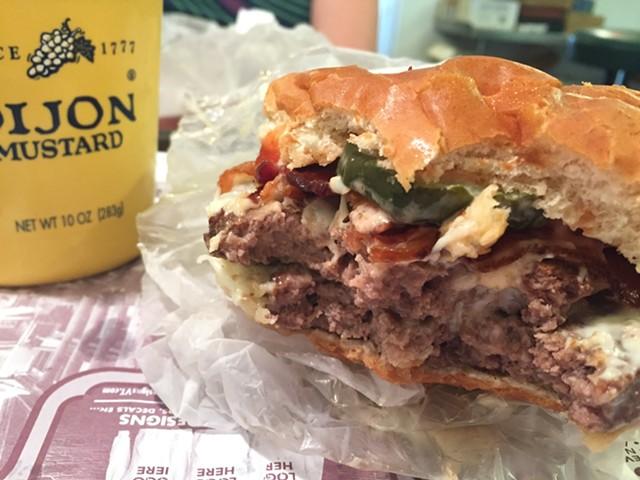 Double bacon cheeseburger, Mountain View Snackbar of Barre - HANNAH PALMER EGAN