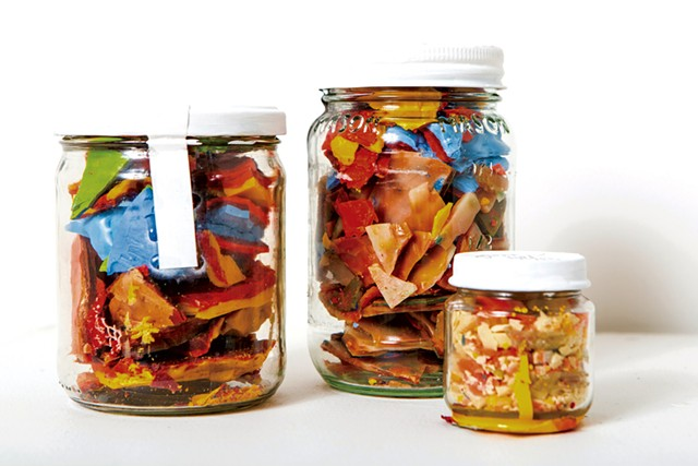"""""""Untitled (Pickled Encaustic Paintings)"""" - COURTESY OF CAT CUTILLO"""