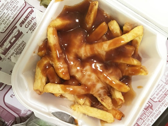 """Poutine,"" AKA gravy-cheese fries, Mountain View Snack Bar of Barre - HANNAH PALMER EGAN"