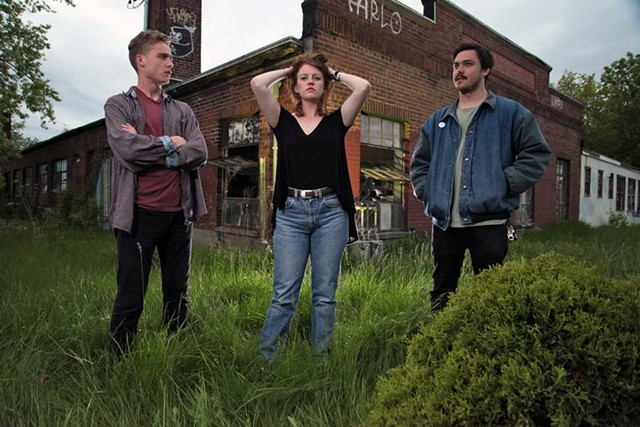 Left to right: Kayhl Cooper, Betsy Rose Besser and Rob Liu of Noise Ordinance - MATTHEW THORSEN