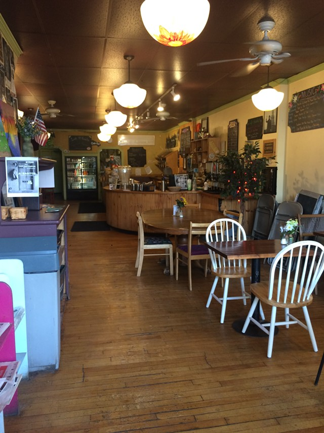 A quiet moment at Bagitos in Montpelier - SUZANNE PODHAIZER