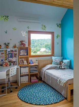An energy-efficient skylight lights up the upstairs hallway. - JIMWESTPHALEN