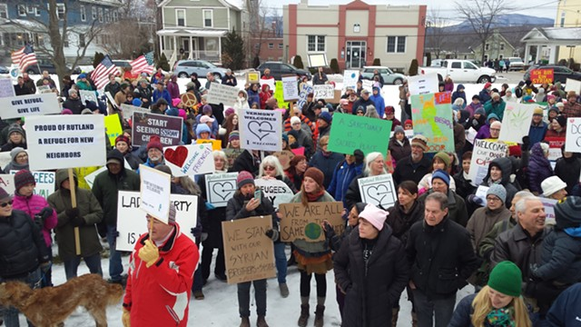 A rally in support of refugees in Rutland in January - KYMELYA SARI