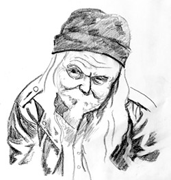 Drawing of Mick by Will Homer