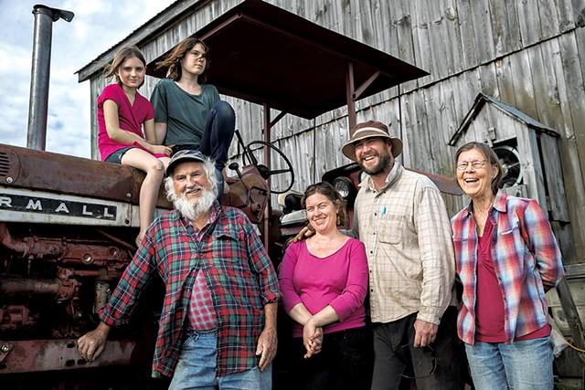 Front row (left to right): Jack Lazor, Christine Lazor, Collin Mahoney and Anne Lazor; back row: Ursala and Virginia Anne Mahoney