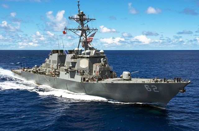 The  USS Fitzgerald, before the crash - COURTESY: U.S. NAVY