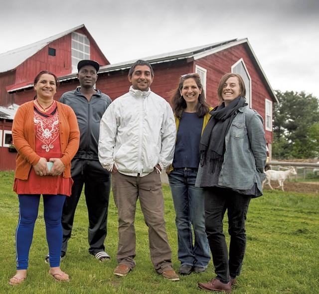 Left to right: GIta Dhaurali, Theogène Mahoro, Chuda Dhaurali, Stacy Burnstein and Casey Engels - JAMES BUCK
