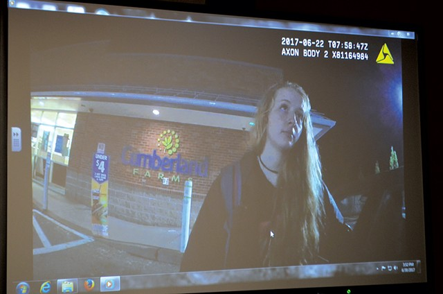 Logan Huysman shown in the police body-cam video