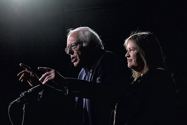 Sen. Bernie Sanders and Jane O'Meara Sanders - FILE: MATTHEW THORSEN