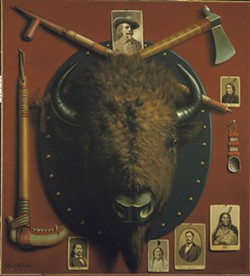 """""""The Buffalo Head, Relics of the Past"""" (c. 1910) by Astley D.M. Cooper - COURTESY OF SHELBURNE MUSEUM"""