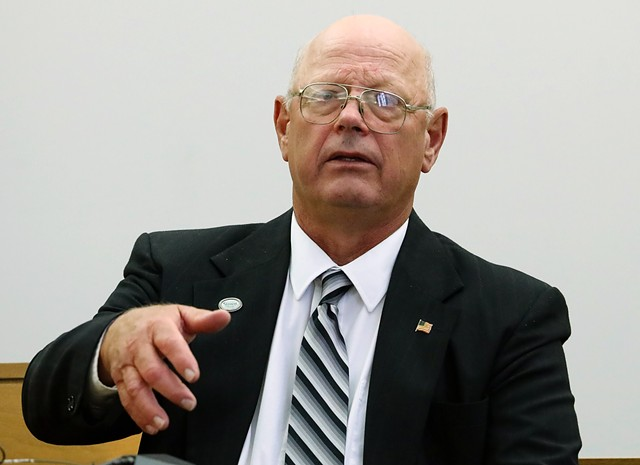 Norm McAllister testifying Friday - GREGORY J. LAMOUREUX/COUNTY COURIER