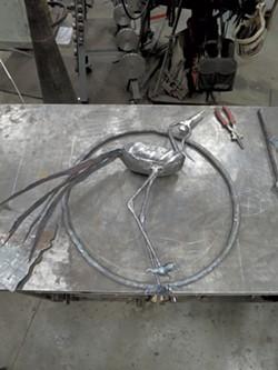 Wrought-iron crane - MATTHEW THORSEN