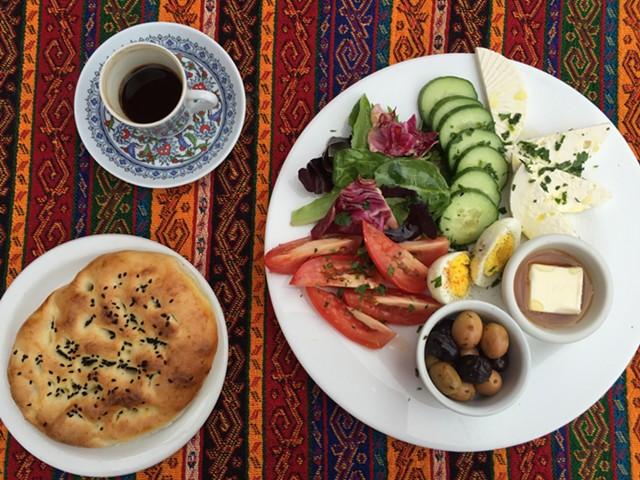 Mediterranean breakfast plate at Istanbul Kebab House - SALLY POLLAK