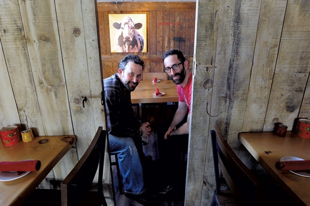 Co-owners Ari and Noah Fishman at ZenBarn - JEB WALLACE-BRODEUR