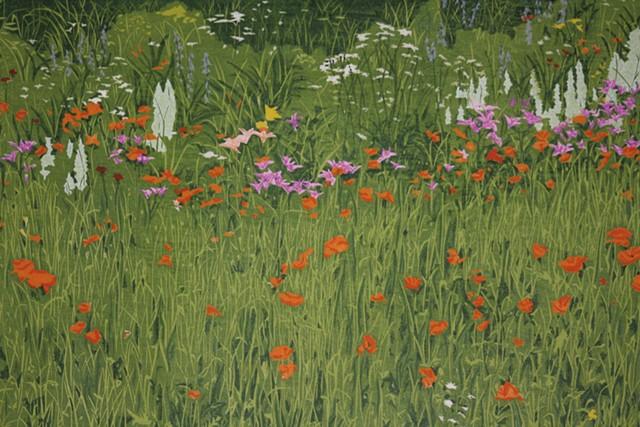 """""""Flower Garden"""" by Jeanne Amato, Field's assistant"""