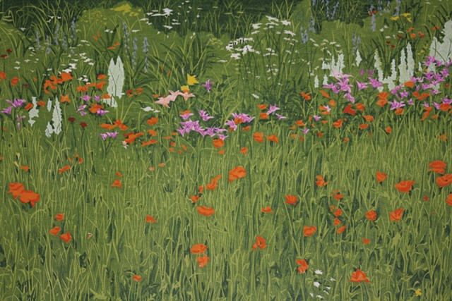 """Flower Garden"" by Jeanne Amato, Field's assistant"