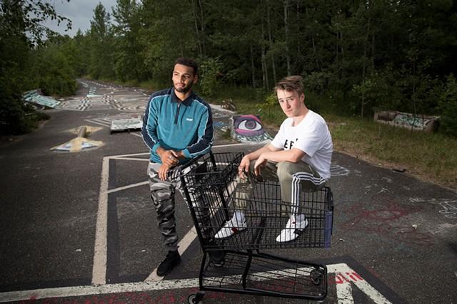 Sam Paulino and Caleb Hoh are  hip-hop duo Sam and Somba - JAMES BUCK