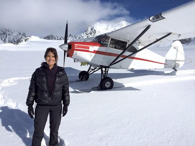 Robin Guillian on Swiftsure Glacier in Alaska in May - COURTESY OF ROBIN GUILLIAN
