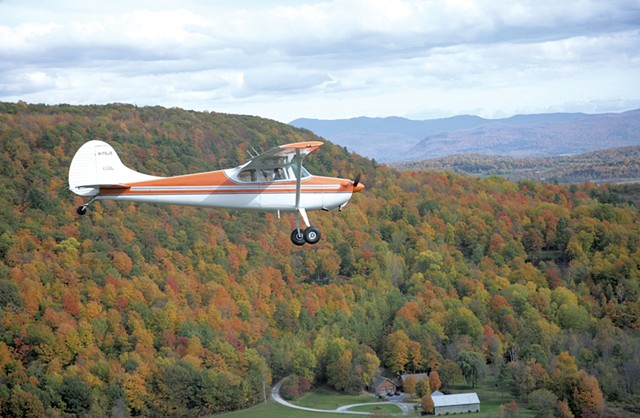 Beth Schiller flying her Cessna 170 - COURTESY OF BETH SCHILLER