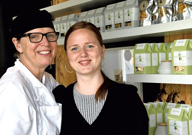 Debra (left) and Hannah Townsend of Douglas Sweets - LEE KROHN