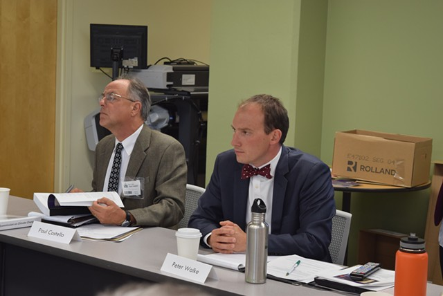 Paul Costello (left) and Peter Walke, cochairs of the Vermont Climate Action Commission - TERRI HALLENBECK