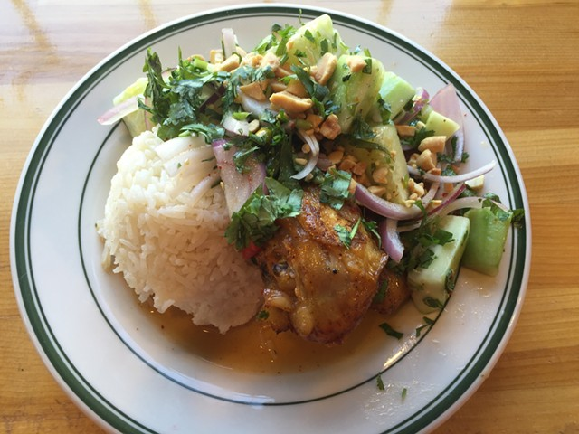 Chili-lime chicken plate - SALLY POLLAK