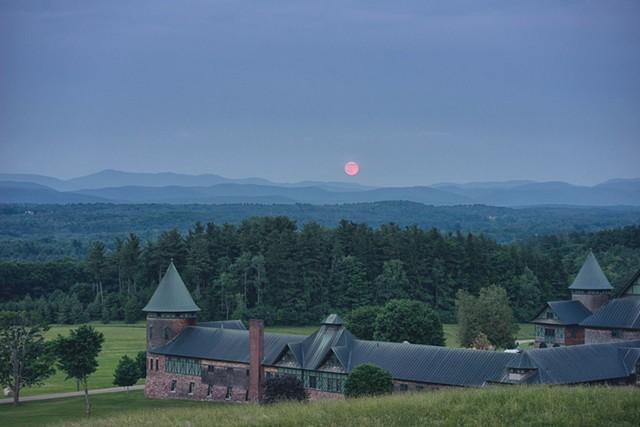 """Greg Danford, """"Moonrise Over Shelburne Farms"""""""
