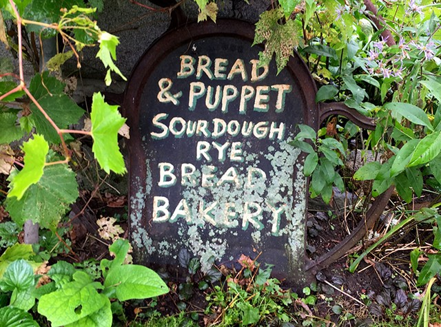 Outside the Bread and Puppet bakery - SALLY POLLAK