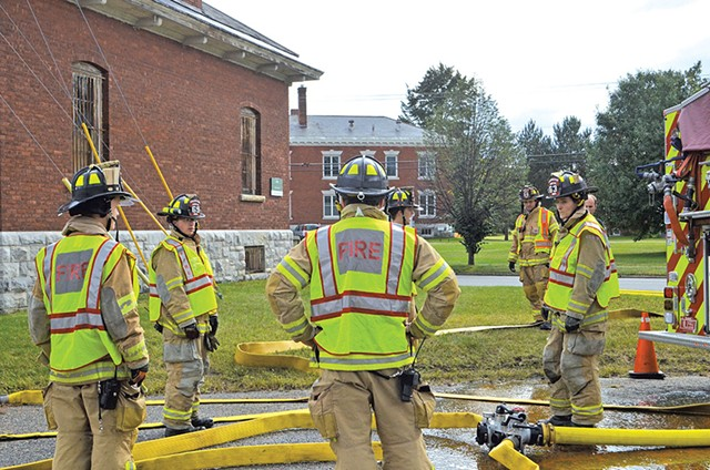 Student firefighters at a training - MOLLY WALSH