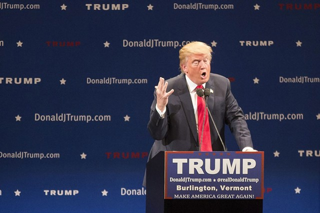Donald Trump in Burlington last year - FILE: JAMES BUCK