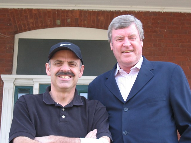 """Steve Cormier and Tom Brennan during their days as Burlington radio personalities """"Corm and the Coach"""" - FILE PHOTO"""