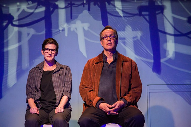 Moira Stone and John Jensen in Fun Home - COURTESY OF LINDSAY RAYMONDJACK