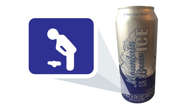 Stewart's store-brand discount lager, Mountain Brew Beer Ice