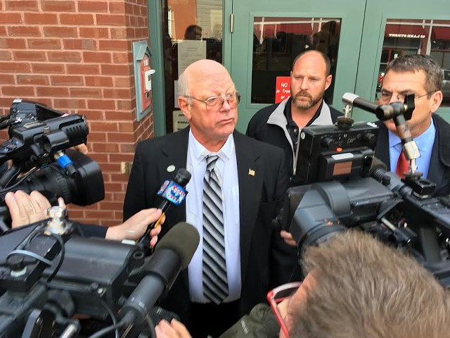 Norm McAllister after his sentencing - MARK DAVIS