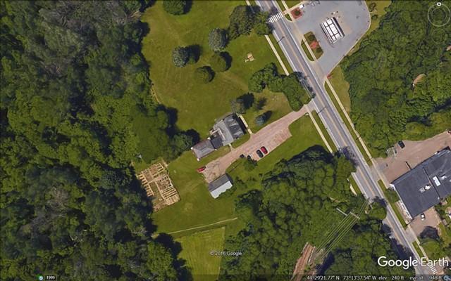 Aerial photo of the Stone House property - COURTESY: CITY OF BURLINGTON