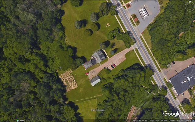 Aerial photo of the Stone House property - COURTESY: CITY OF BURLINGTON