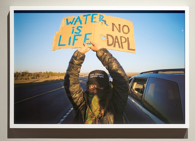 "From the ""Mni Wiconi, Water Protectors"" series by John Willis - COURTESY OF SAM SIMON"