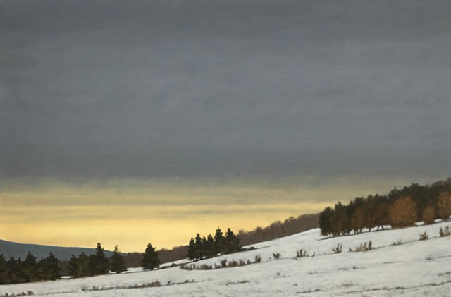 """Sunrise, Winter Hillside "" by James Urbaska - PHOTOS COURTESY OF THE GREAT HALL"