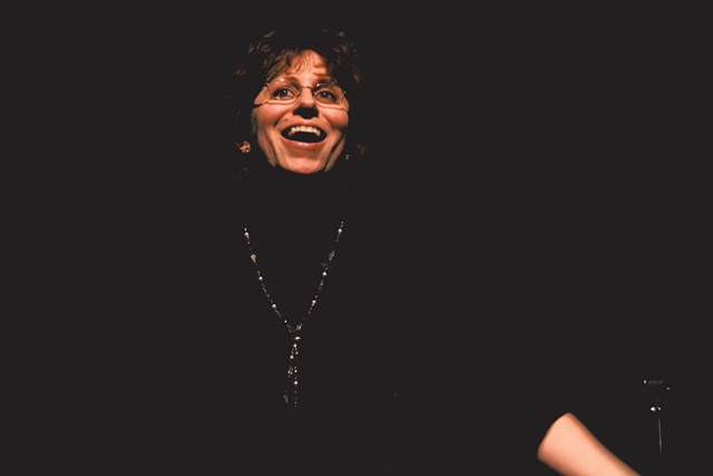 Wendi Stein reads in 'The Nether' - COURTESY OF MIDDLEBURY ACTORS WORKSHOP