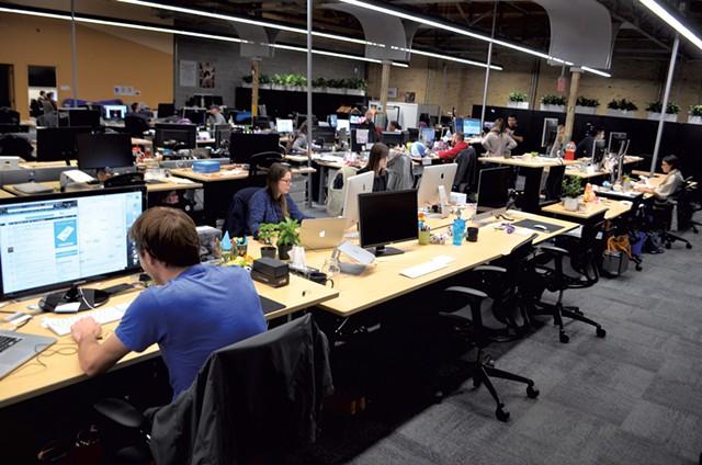 Inside Tucows' Toronto headquarters - KATIE JICKLING