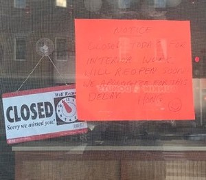Sign at Hong's Chinese Dumplings on Pearl Street - COURTESY BOB BOLYARD