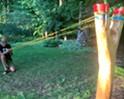Stuck in Vermont: Troy Headrick Sculpts a Giant Slingshot for His Burlington Backyard