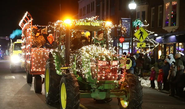 Stuck in Vermont: Holiday Lights at the St. Albans Cooperative Tractor