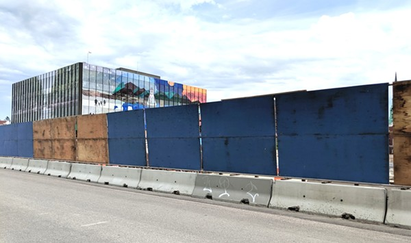 'Billboards' Around CityPlace Construction Site Taken Down