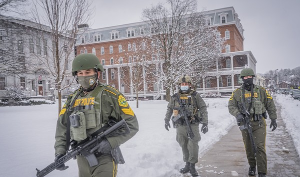 Plenty of Police, but No Protesters, Turn Out at Vermont Statehouse on Sunday